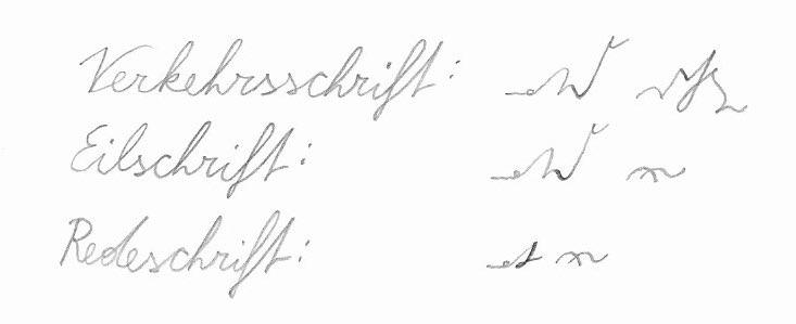 Stenogramm: Elegante Kürzungen. Deutsche Einheitskurzschrift (DEK) – Verkehrsschrift